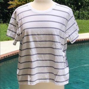 LL Bean striped short sleeve round neck t-shirt